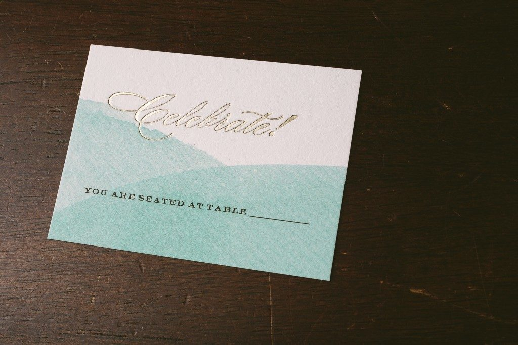 watercolor wedding invitations for Southern California wedding | Bella Figura