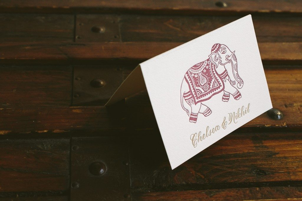 exotic red and gold Indian wedding invitations | Bella Figura