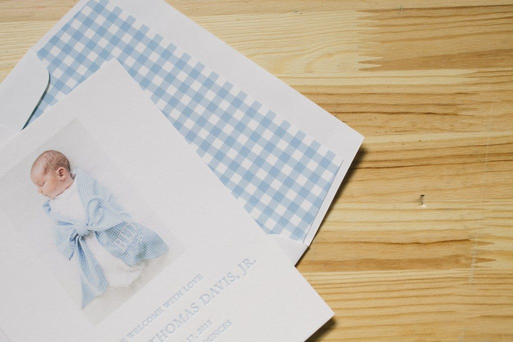 letterpress birth announcements for baby boy | Bella Figura
