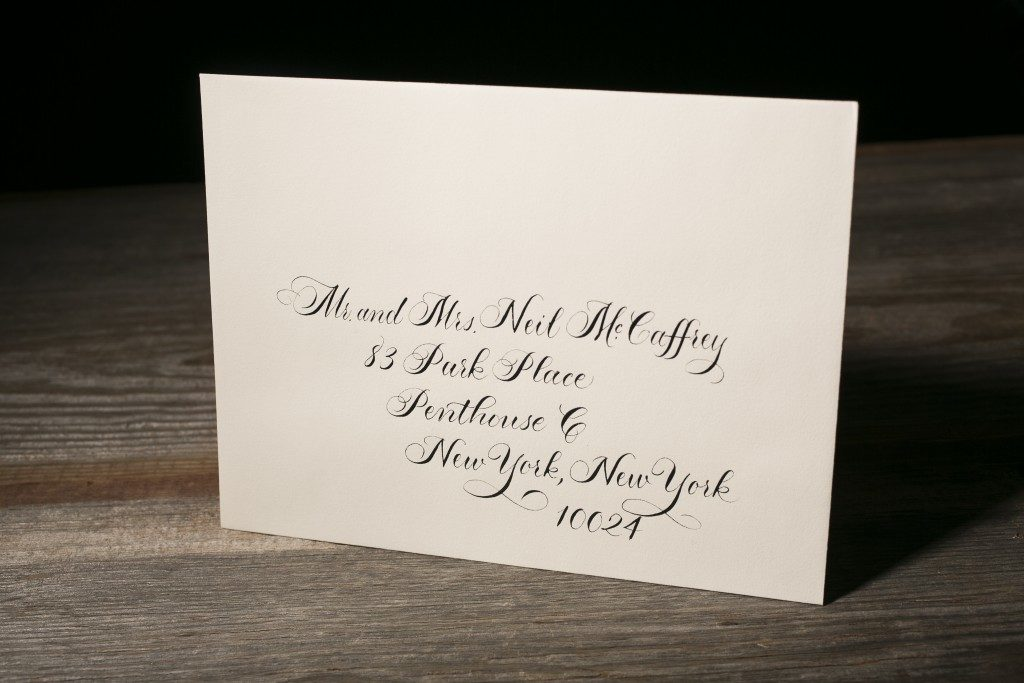 calligraphy addressing for wedding invitation envelopes and more