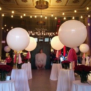 The event entrance at the 2016 New York Magazine Weddings Event at Capitale