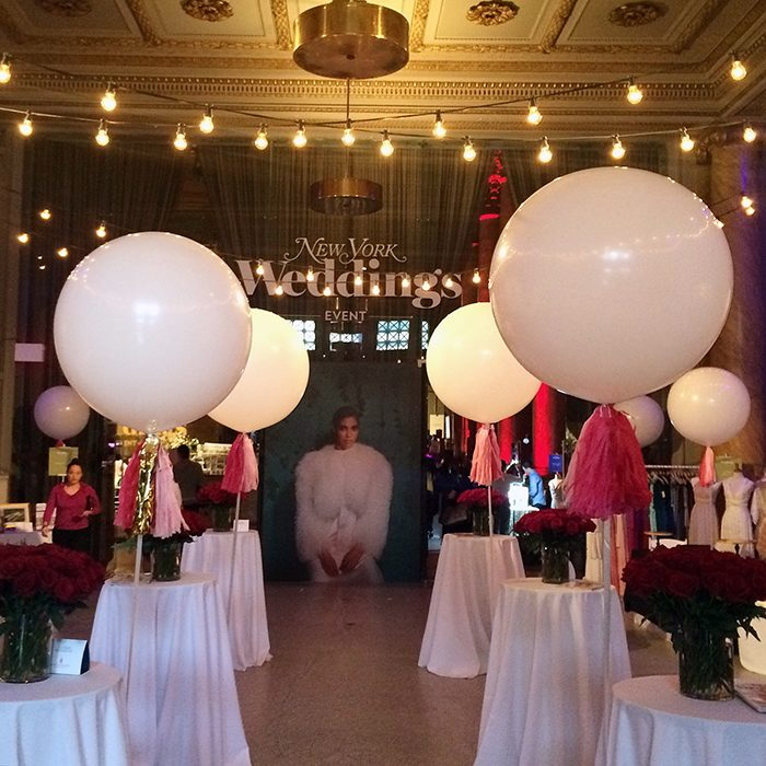 The event entrance at the 2016 New York Weddings Event at Capitale