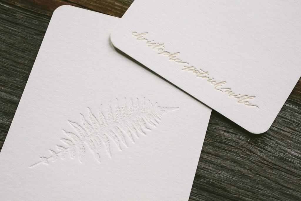 botanical inspired letterpress personal stationery | Bella Figura