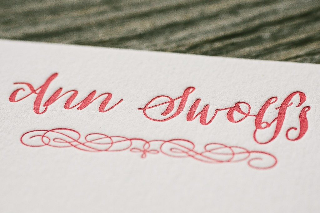 custom letterpress social stationery with coordinating floral liner | Bella Figura