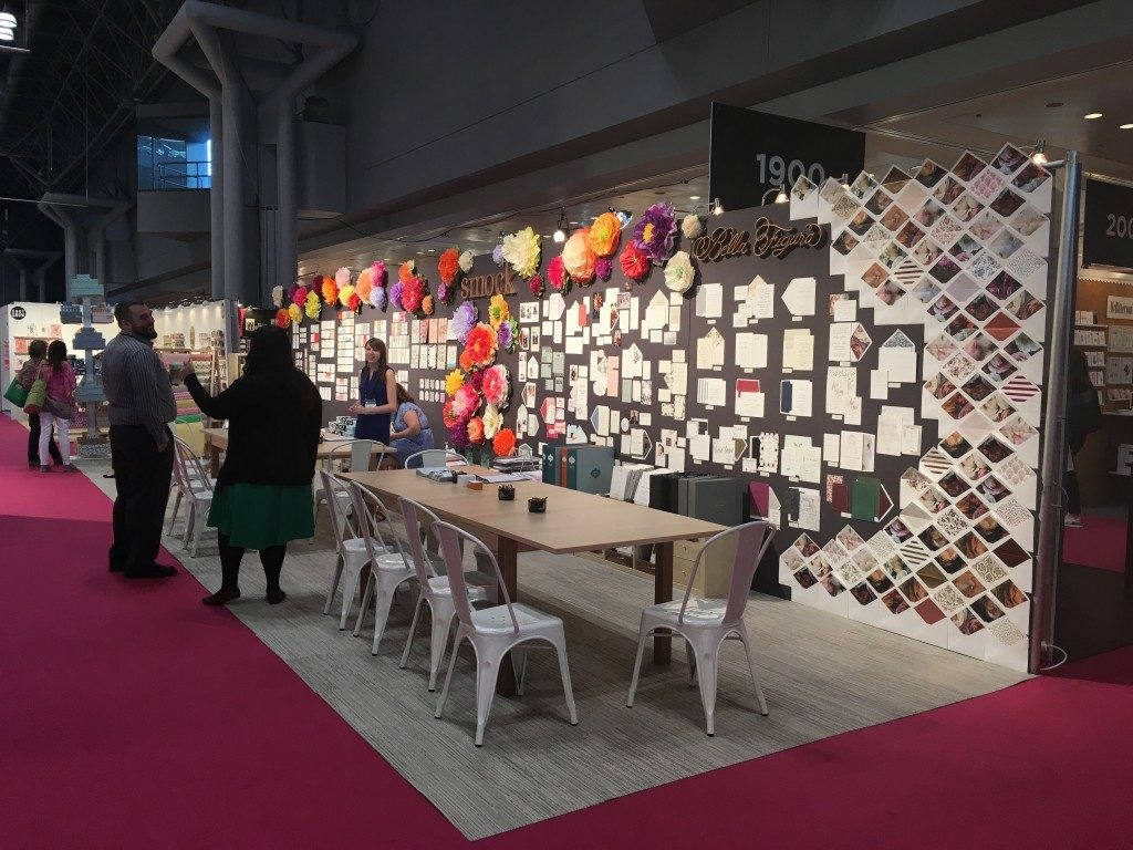Bella Figura booth display at the 2016 National Stationery Show