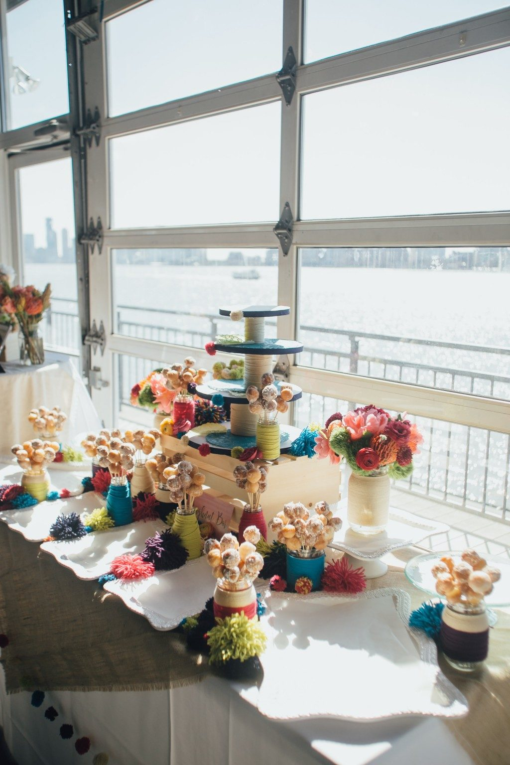 Dessert table at the Big Fake Wedding in NYC
