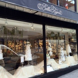 Invitation-inspired cakes at the Bella Figura flagship store