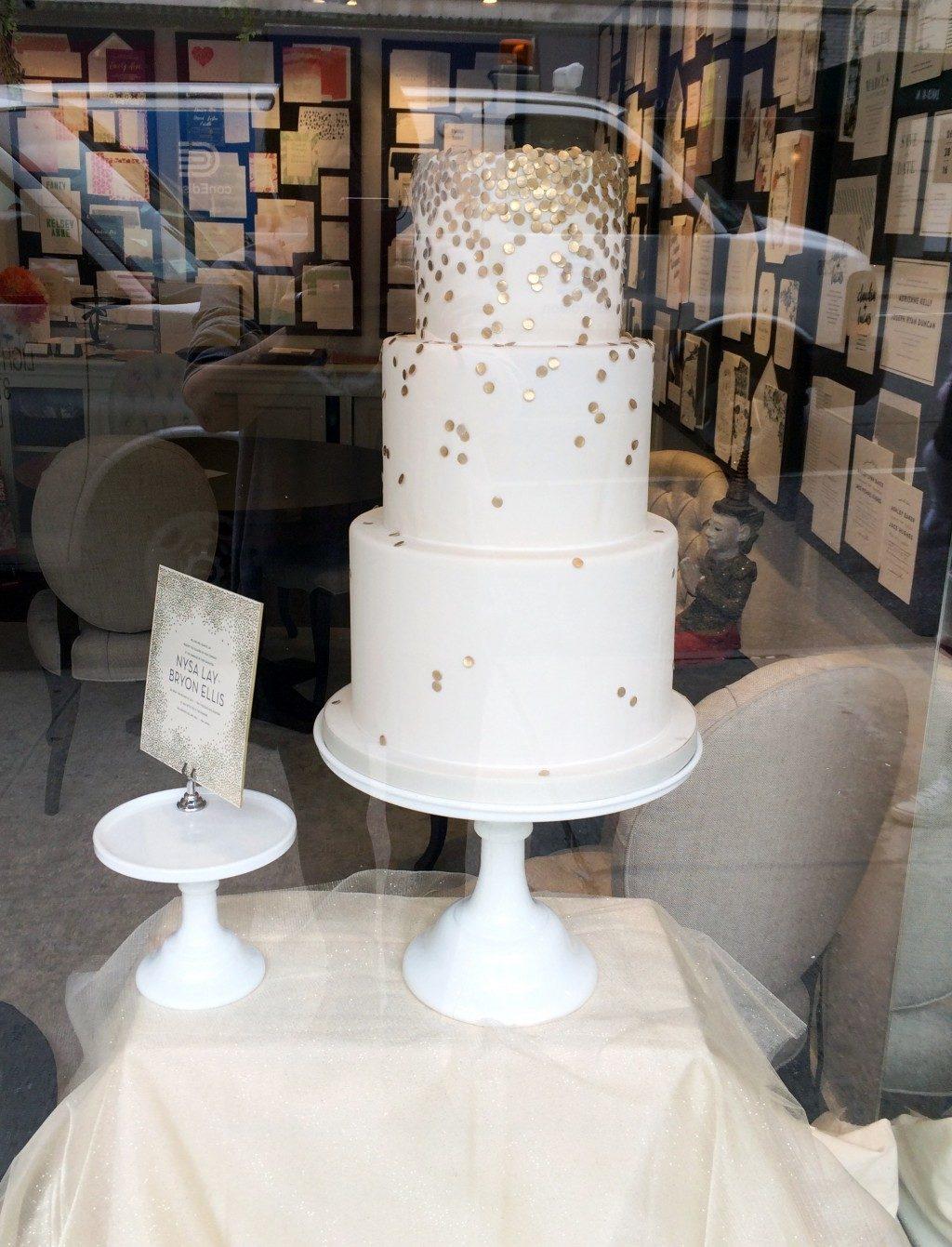 Joie de Vivre invitation inspired cakes