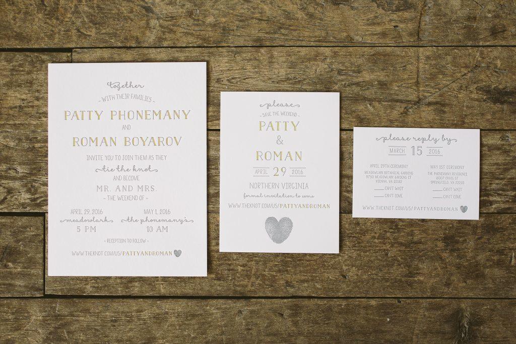 Fun typography wedding invitations | Bella Figura
