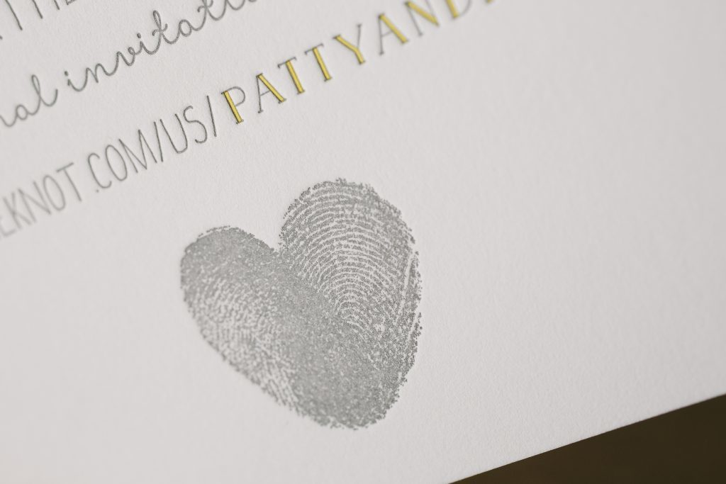 Fun typography wedding invitations | Bella Figura