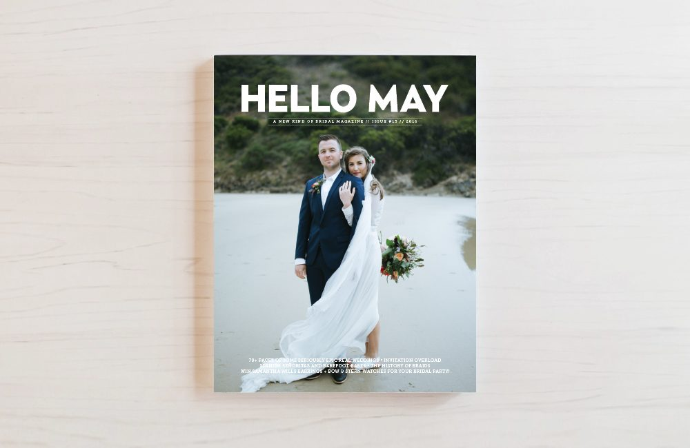 Bella Figura's Lark invitations were featured in issue 13 of Hello May Magazine