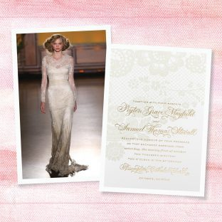 Wedding Gown + Invitation Style ideas from the Knot