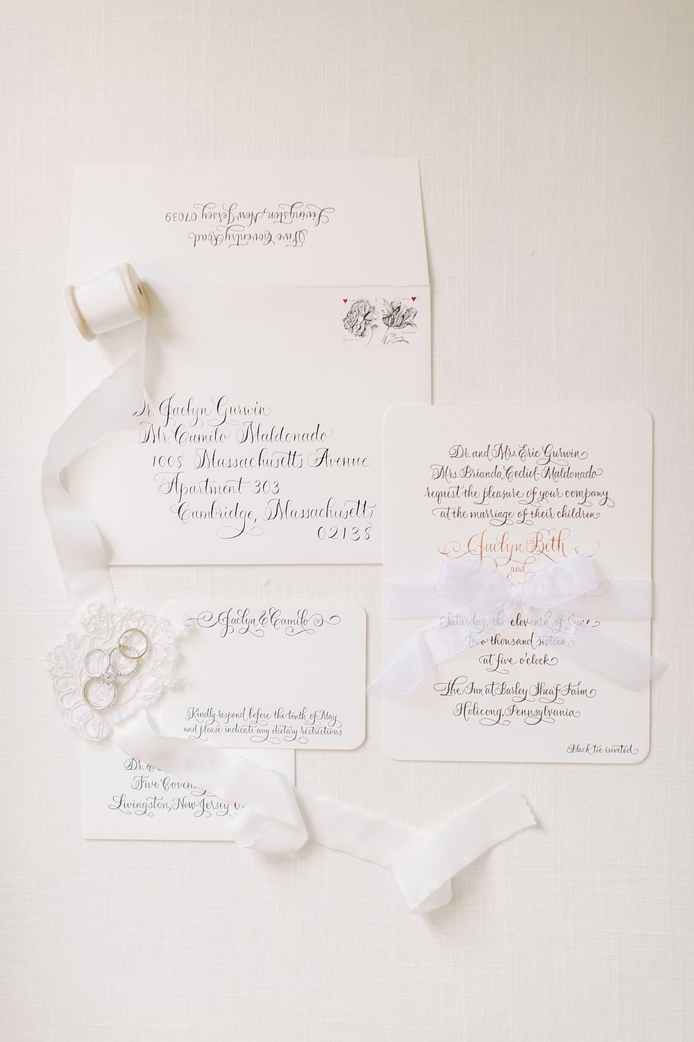 Calligraphy wedding invitations from Bella Figura | Real Bella Figura wedding