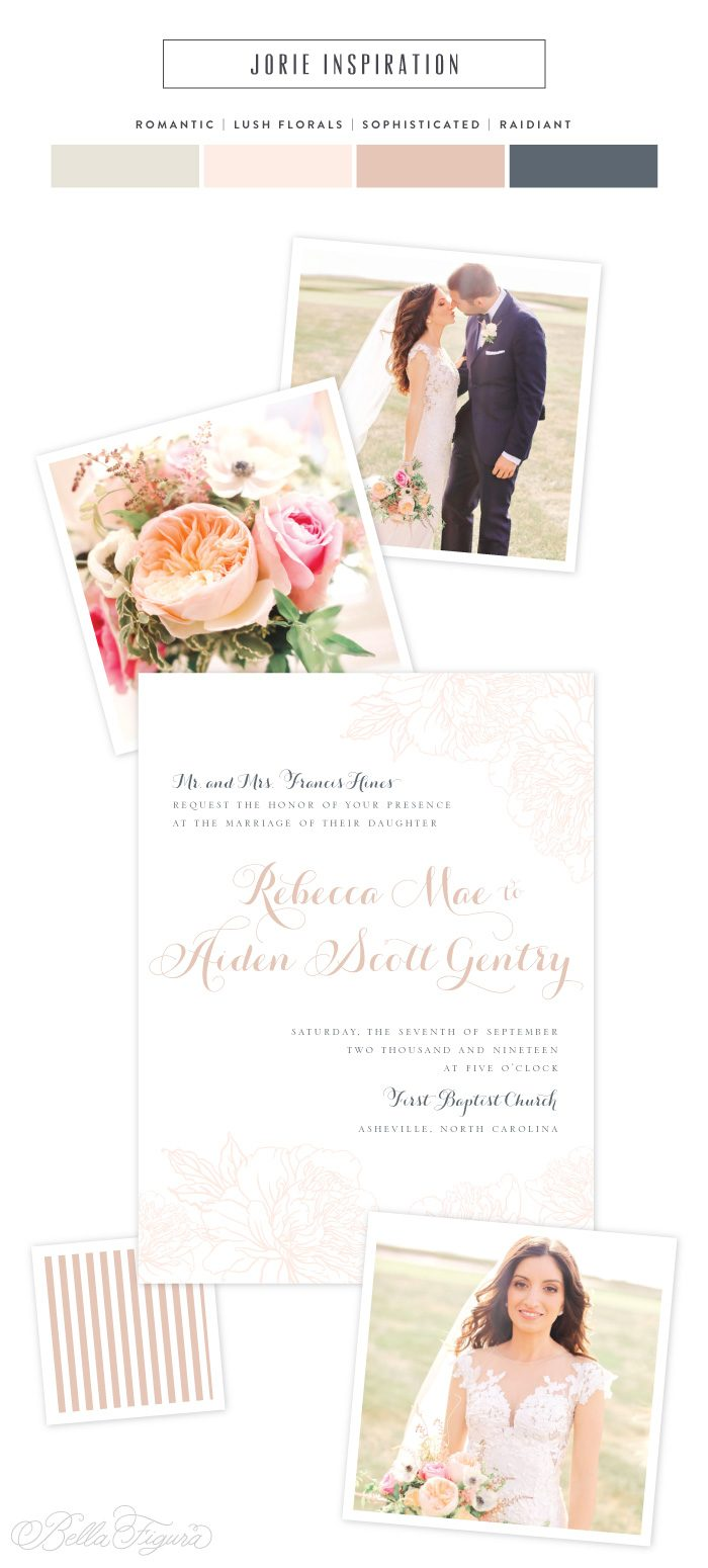 romantic floral wedding invitation inspiration | Bella Figura