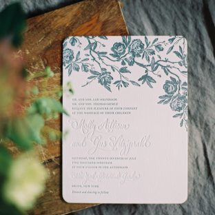 Tristan wedding invitations by Andrea Streeter for Bella Figura