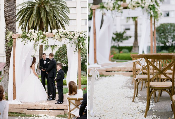 Wedding ceremony at the Fairmont in San Francisco