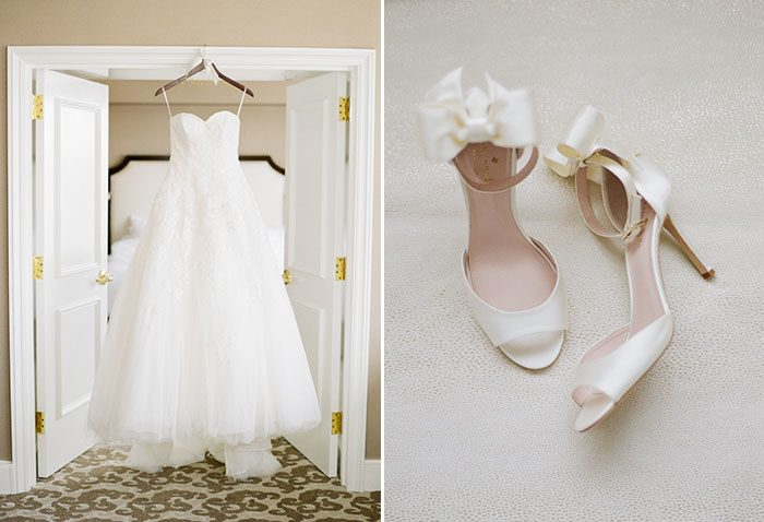 La Sposa By Pronovias  wedding gown + Kate Spade shoes
