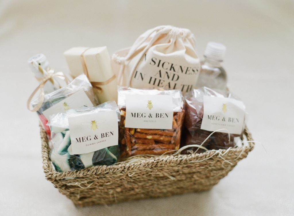 Cute welcome baskets