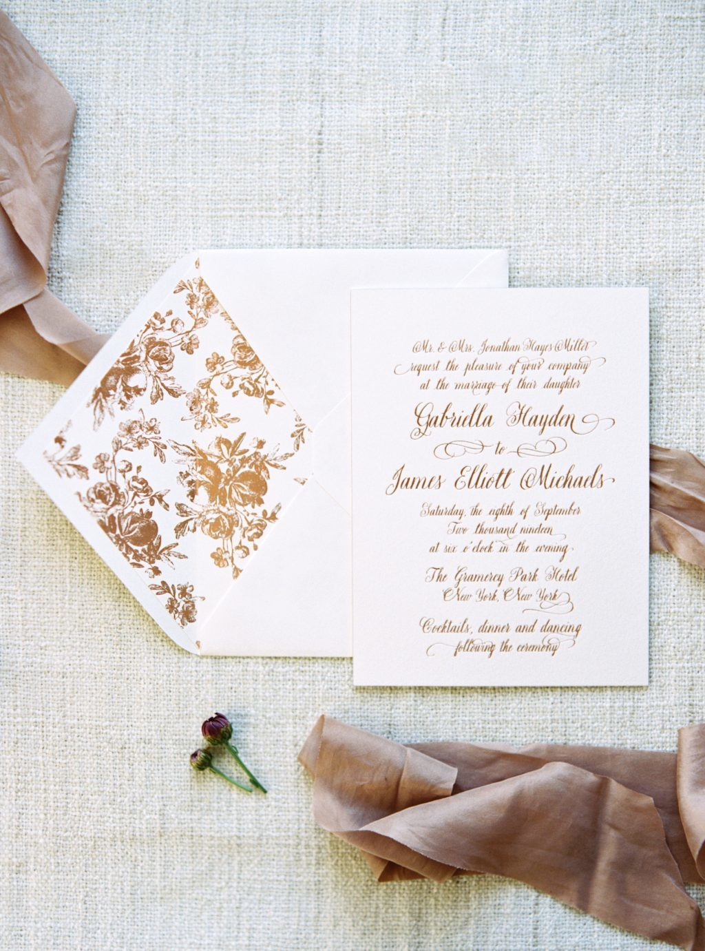 Leyton wedding invitations by Amy Graham Stigler for Bella Figura