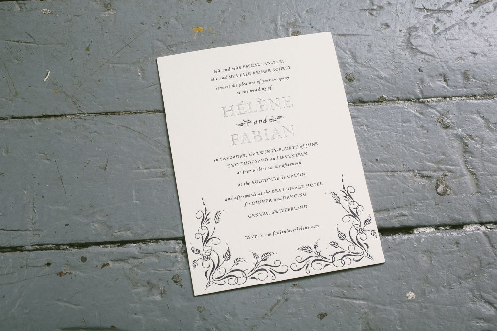 elegantly rustic invitations for wedding in Switzerland | Bella Figura