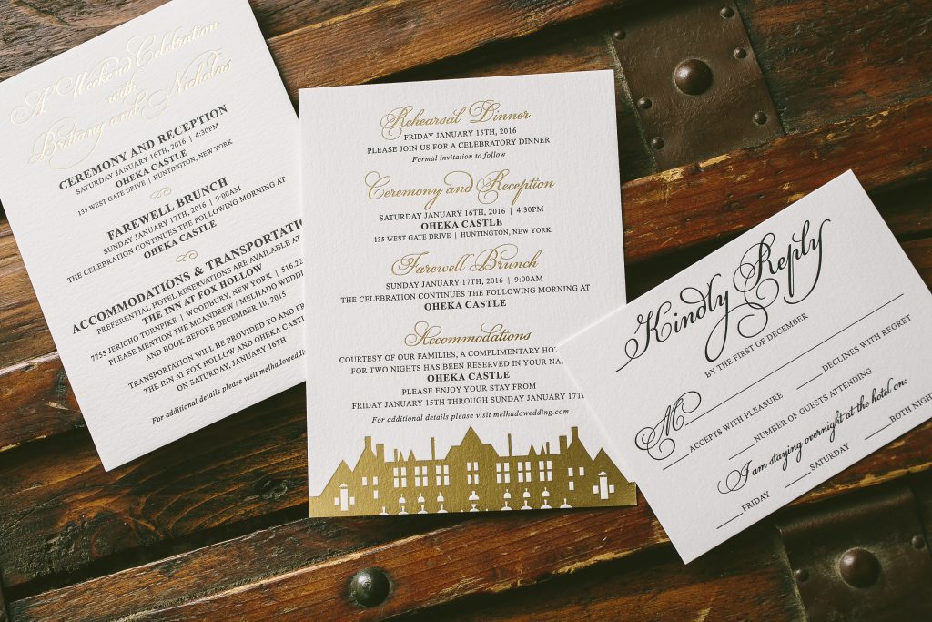 elegant letterpress and foil damask wedding invitations | Bella Figura