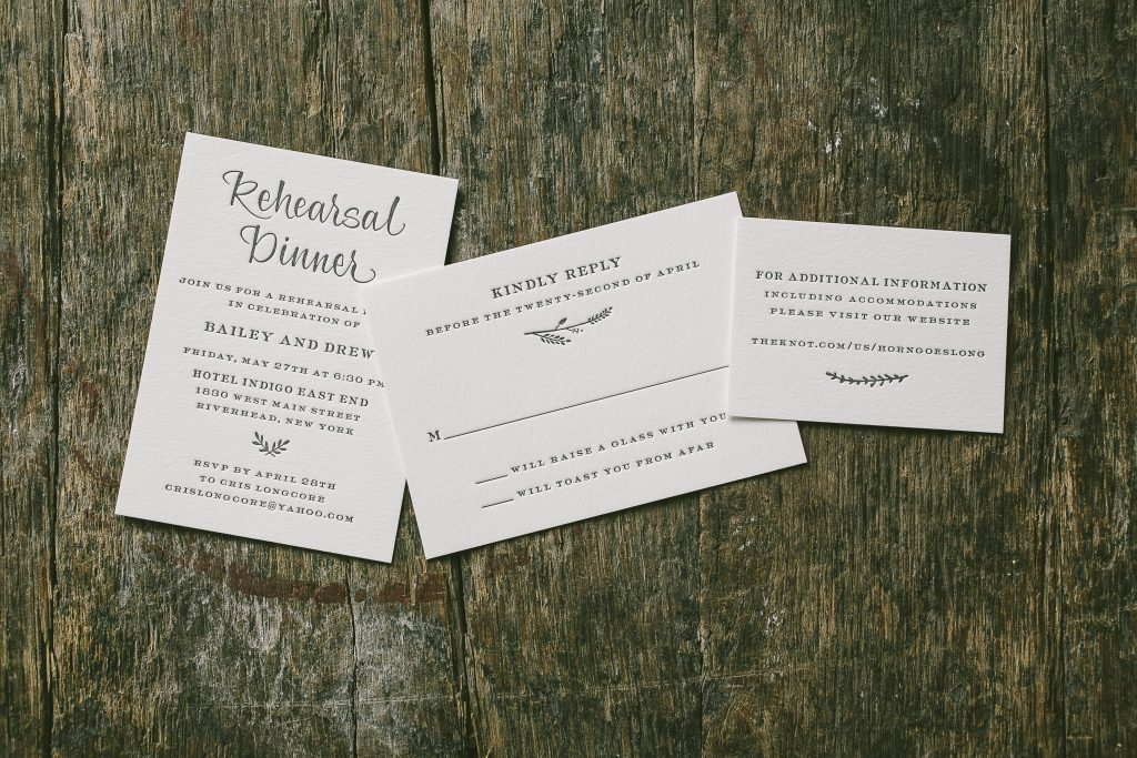 gold foil vineyard inspired wedding invitations   Bella Figura