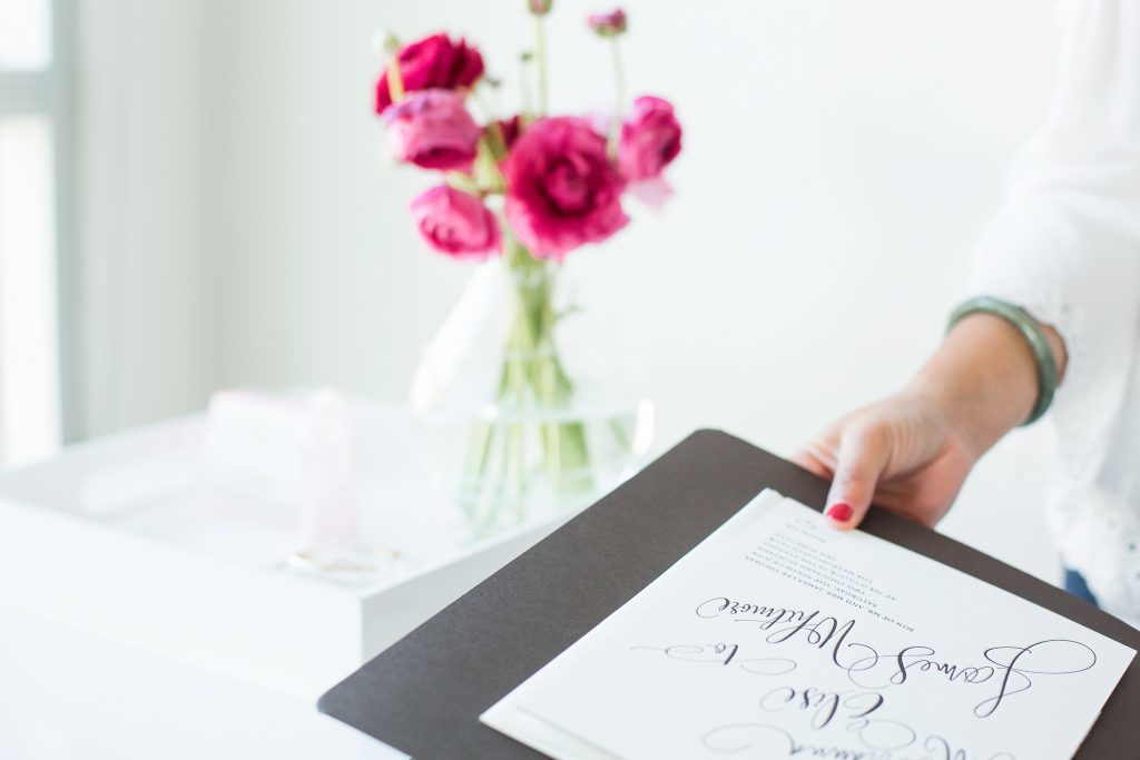 Bella Figura wedding albums at the Marissa Allie Designs - Studio Tour