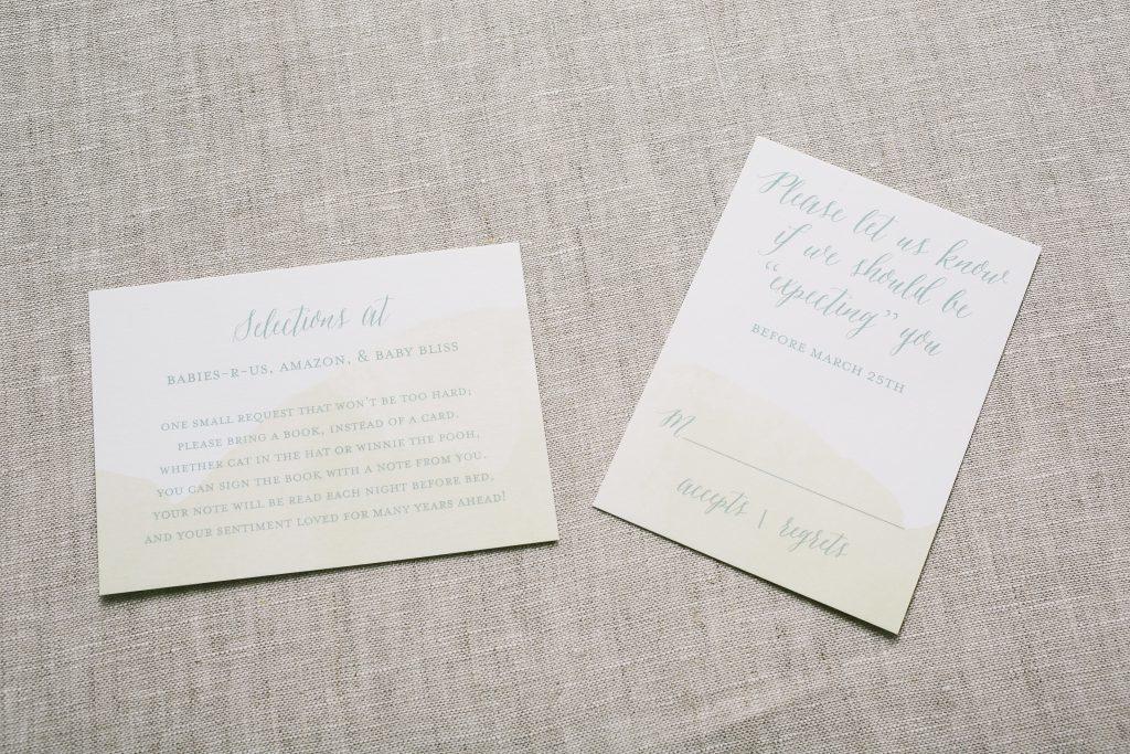 twinkle, twinkle little star gold foil baby shower invitations | Bella Figura