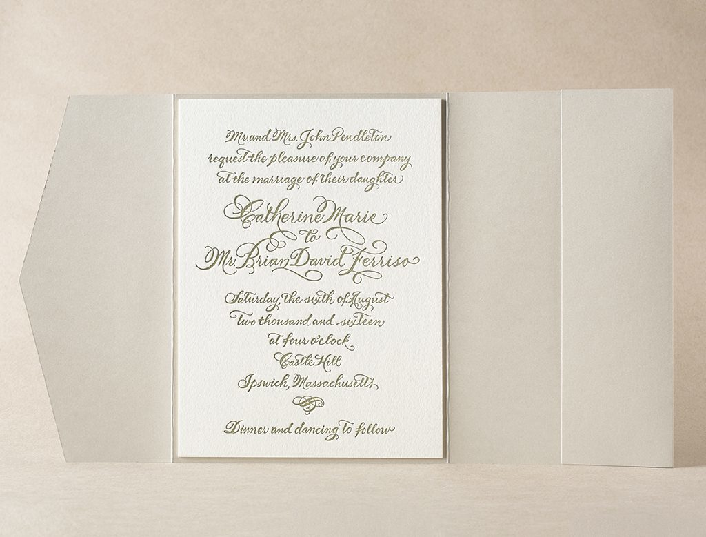 Luxurious cotton invitation paper & envelopes from Bella Figura