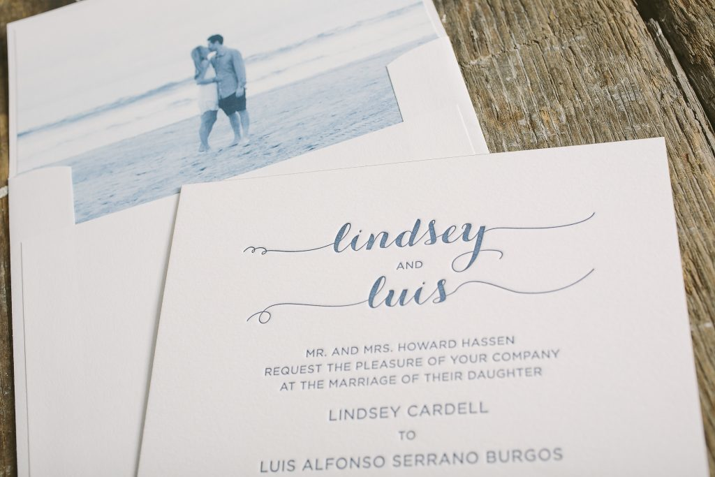 Photographic wedding invitations for California wedding | Bella Figura