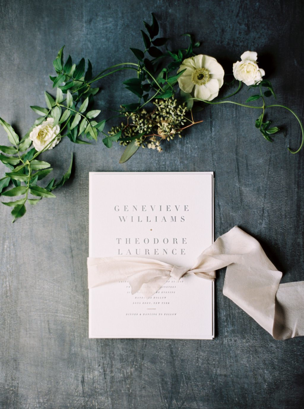 Letterpress wedding invitations by Jessica Downs for Bella Figura