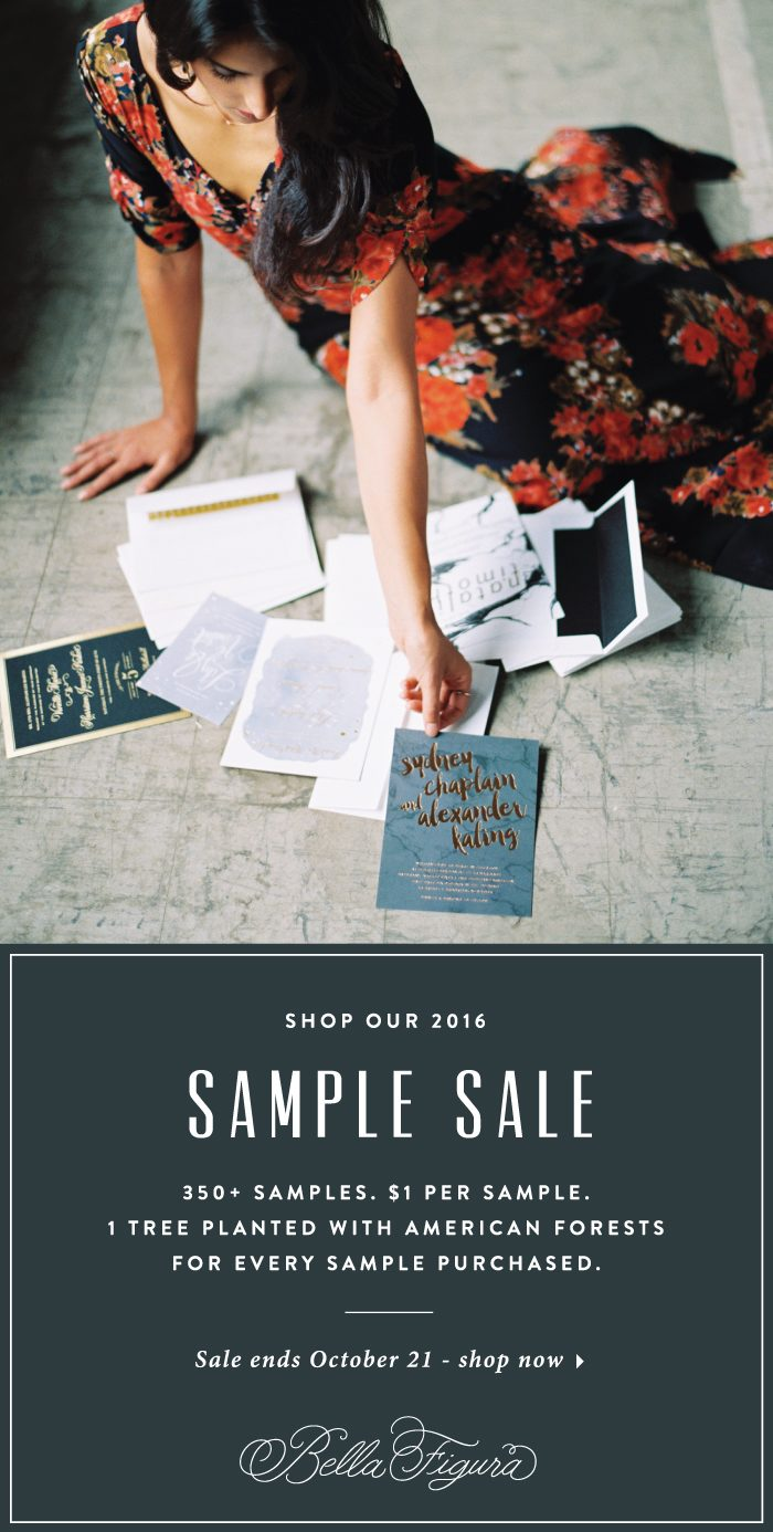 Shop the 2016 Bella Figura sample sale