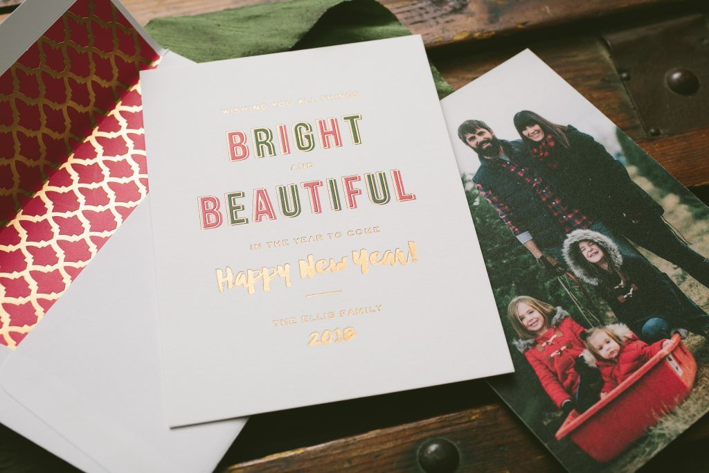 Custom holiday photo cards from Bella Figura