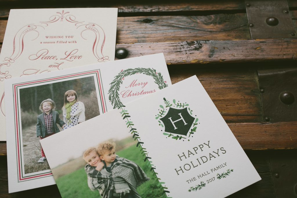 Custom holiday cards from Bella Figura