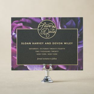 Sloan Save the Date design