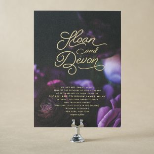 Sloan Wedding Invitation Design