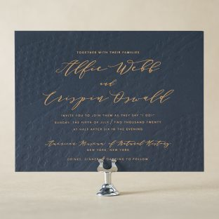 Garnet Wedding Invitation Design