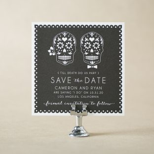 Olvera Save the Date design