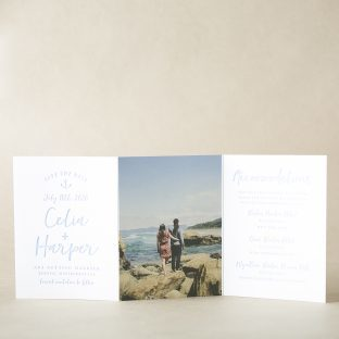 Modern Nautical Save the Date design