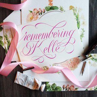 Remembering Bella Figura calligrapher Kelle McCarter