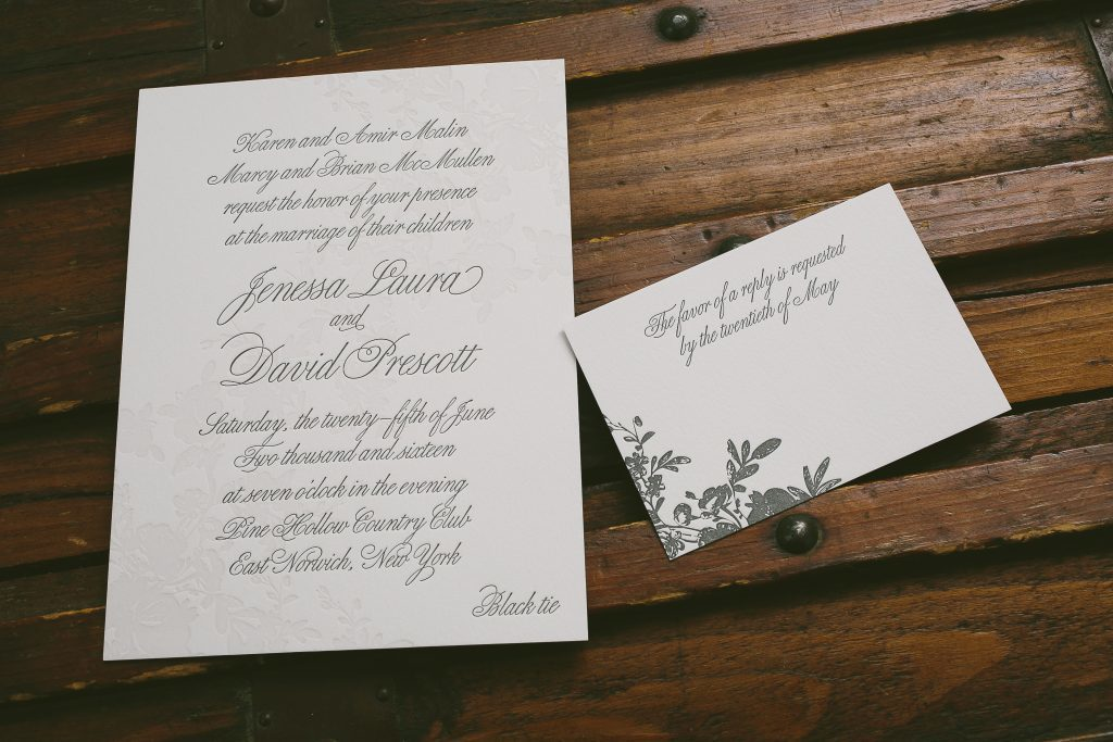 vintage botanical wedding invitations | Bella Figura