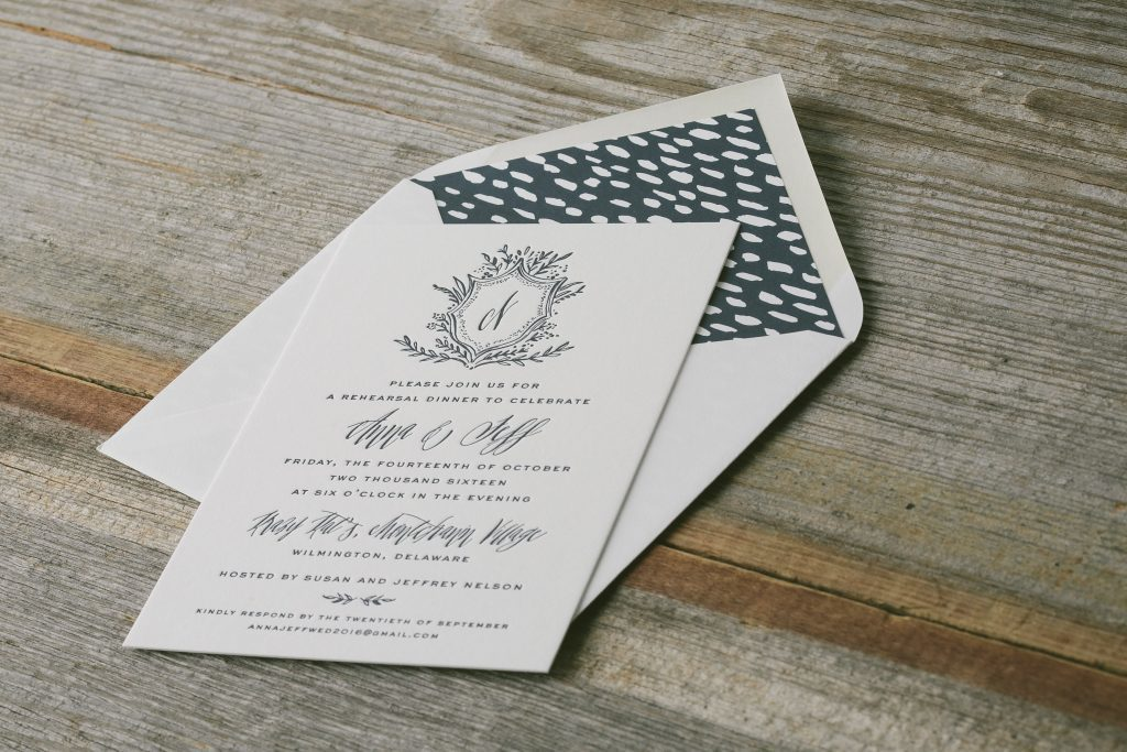 whimsically rustic rehearsal dinner invitations | Bella Figura