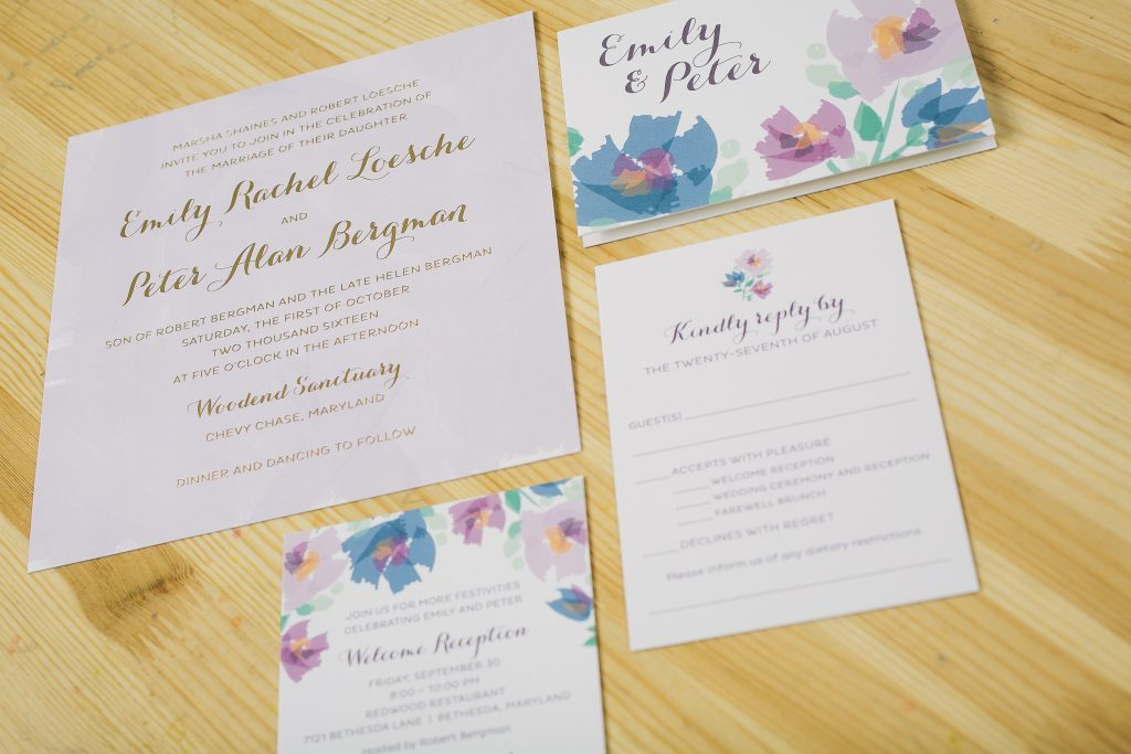 pastel floral wedding invitations | Bella Figura