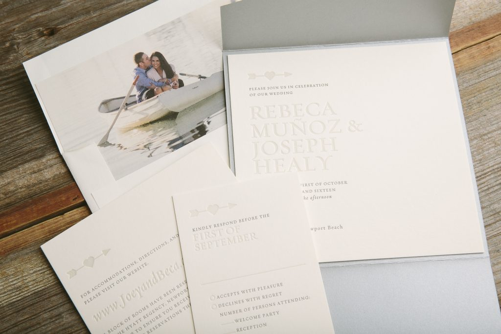 personalized envelope liners featuring engagement photos, venue photos and more | Bella Figura