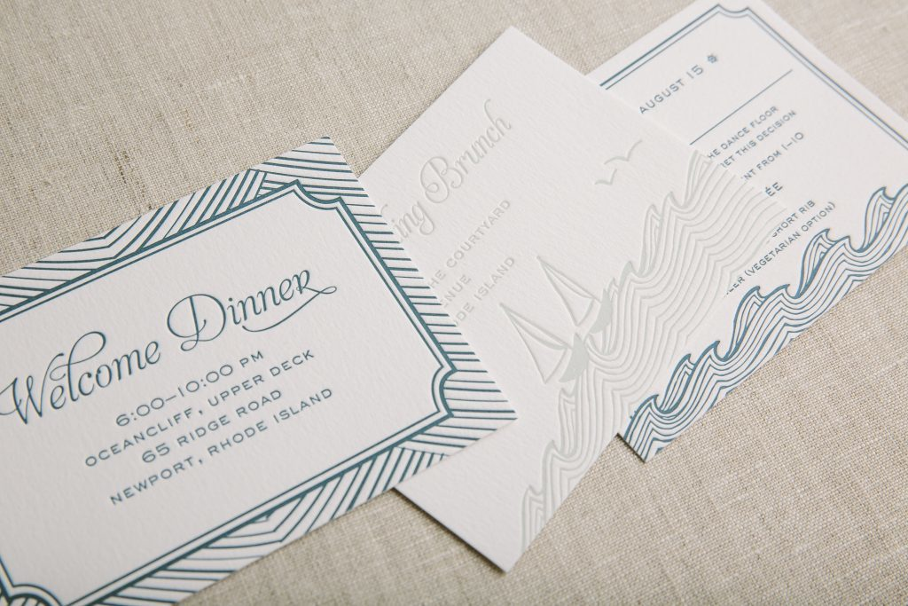 letterpress multi-cultural wedding invitations by Bella Figura