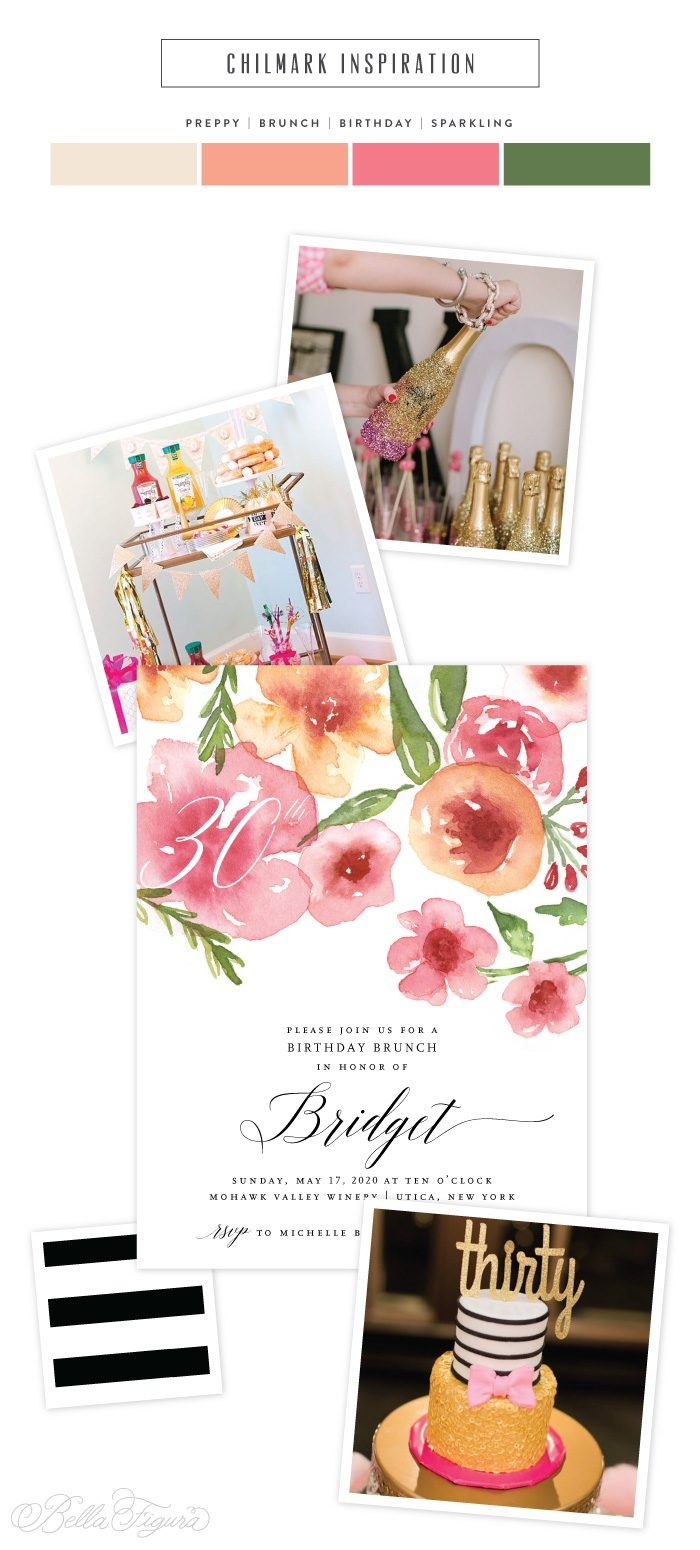 Chilmark: watercolor floral birthday invitations | Bella Figura