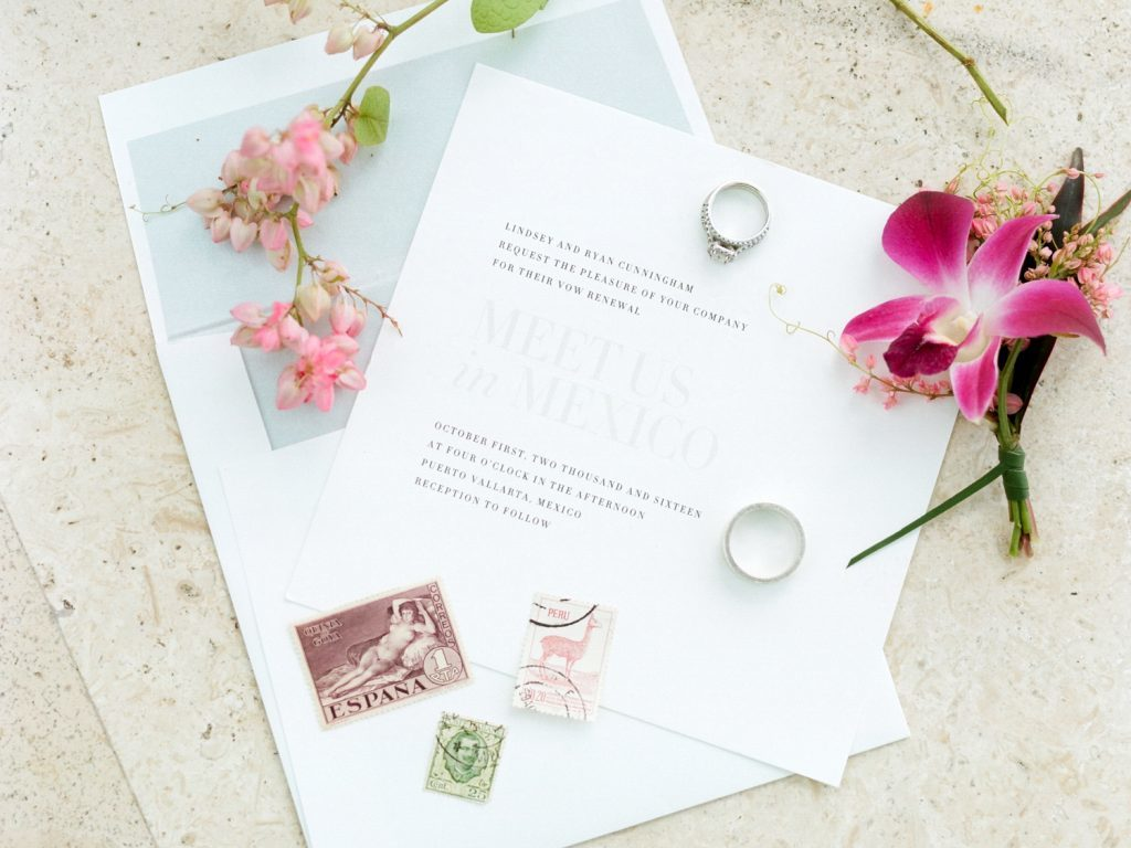 Irving wedding vow renewal invitations