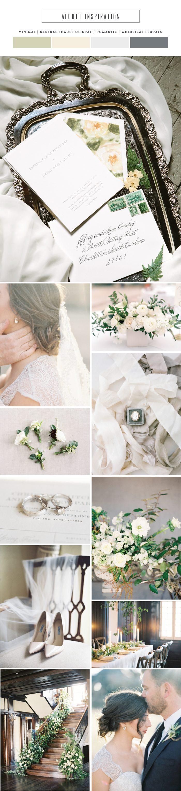 Introducing Alcott: modern and minimal letterpress wedding invitations | Bella Figura
