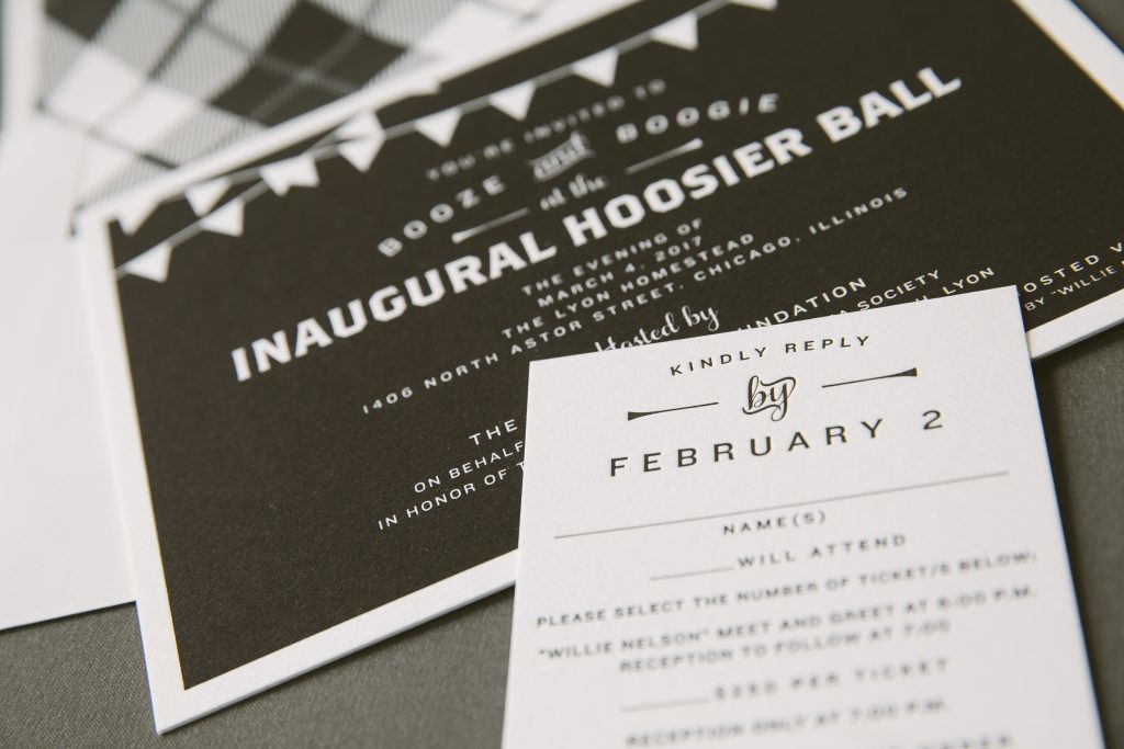 letterpress printed chalkboard party invitations | Bella Figura