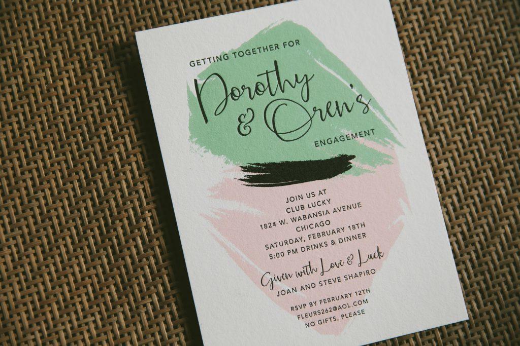 engagement party invitations - Bella Figura